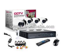 4CH Channel CCTV Surveillance Security D1 DVR IR Cameras Night Vision System Kit