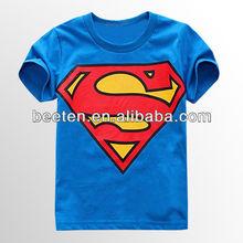 2013 summer t-shirt for kids with supermen pattern