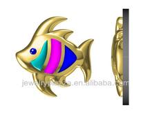 2013 YFN Unique new 3d fish jewelry cad model,3d design fish pendant necklace