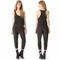 Design de moda mangas, gola redonda preto denim macacões para mulheres 2013 alta qualidade das senhoras casual macacões de fotos