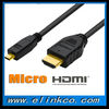 Micro hdmi to hdmi extension cable for ipad,smart phone,MP4 etc.