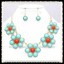 2013 wholesale fashion five alloy flower necklace wholesale necklace bracelet earrings