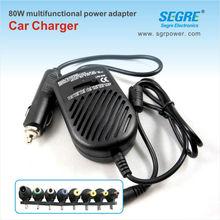 80W universal laptop electrical adapter plug cigarette lighter