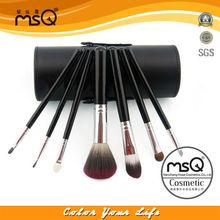 7pcs Black cylinder bag cosmetic brush makeup applicators