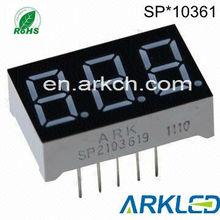 0.36 inch Three digits 7 segment LED Display