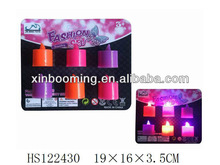 Fashion plastic candle with light party toys birthday toy