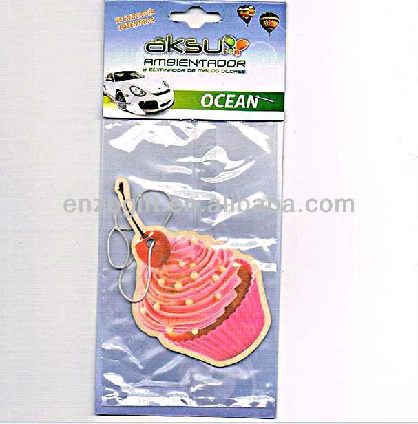 flavor card air freshener, cute design paper auto freshener, cheap price