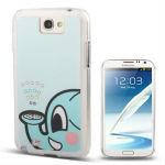 Cute little Elephant Pattern Diamond Encrusted Plastic Case for Samsung Galaxy Note II / N7100