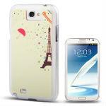 Eiffel Tower Pattern Diamond Encrusted Plastic Case for Samsung Galaxy Note II / N7100