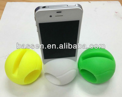 2013 tennis ball silicone speaker for iphone
