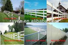 High Quality PVC Profile Vinyl Garden Fencing