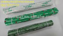 organic vegetable wired twist ties/paper vegetable tape