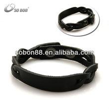 Popular valentine's gifts genuine leather bracelets wholesale