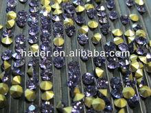 2013 rhinestone, crystal glass chatons, machine cut chaton