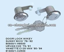 Door lock with key For Nissan SUNNY B310 URVAN C20 VANETTE C120