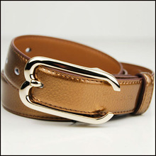 Classic litchi grain brown type leather belt making machine for men and women