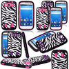 Deluxe Zebra Print Hard Soft High Impact Armor Case Combo for Samsung Galaxy S3 i9300