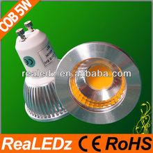 2013 5watt cob gu10 led spotlight 500lm Warm/Cool White(CE&RoHS)