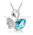 fantasia de lago dos cisnes qualidade gemstone pingente e encantos colar vners jóias