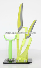3 pcs ceramic knife set with acrylic stand