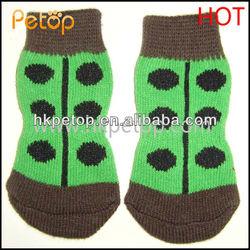 Green Beetle Pet Dog Socks Supplier