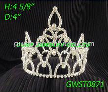 rhinestone king crown tiara for men