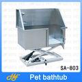 Pet kit de aseo de aceroinoxidable eléctrico de elevación de la bañera, bañera de perro, pet sa-803 bañera