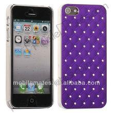 Star Rhinestones Diamond Bling Chrome Hard Case for iPhone 5