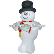 Christmas Inflatable - Frosty the Snowman with Sign