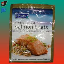 Deliciou salmon fillets packaging bag
