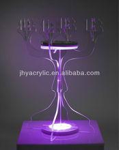 ceramic/transparent acrylic candle holder