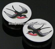 Flying swallow screw body jewelry flesh tunnel ear plugs