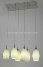 Promotion! Round lampshade, stainless steel base glass shade ceiling light pendant