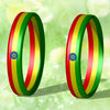 2014 world cup country flag stripe for Ethiopia silicone bracelet