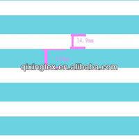 blue and white striped bikini fabric for swimwear