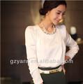 alta moda feminina cetim blusa de seda