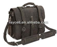 western European fashion vintage Leather portfolio travelling messenger bag manufacture from Alibaba China