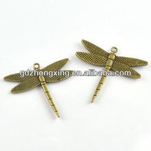 Real metal dragonfly bracelet cheap zinc alloy charm