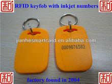 custom 125KHz Atmel Temic T5577 RFID key tag&key inkjet printable