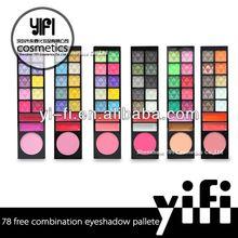 Best 78 color powder makeup palette high quality oem eyeshdow