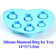 FDA LFGB best seller diamond ring silicone ice cube tray
