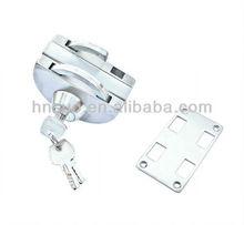 center folding sliding glass door lock