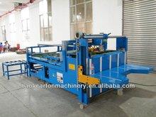 2800semi auto gluing machine/glue chest machine/small corrugated carton box folding and gluing packaging manufacturing equipment