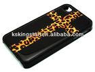 cross leopard print plastic pc case for iphone 4s