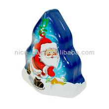 Christmas Tin Tree, Decorative gift box, metal Tree-shaped box with Lanyard or sling
