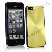 High Quality Ultrathin Aluminum Circle Pattern and Oil Hand Felling Back Cover Case for iPhone 5