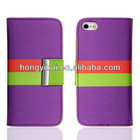 Hot! Guangzhou factory wallet leather cases for iphone5