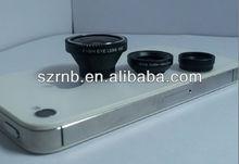 plastics new products 3 in 1 lens for iphones/Galaxy S/smart phones fisheye/wide angel/macro