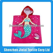 2013 nicest velour printed kids hooded beach towel
