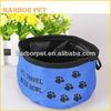 Folding Waterproof Nylon Traveling Pet Bowl